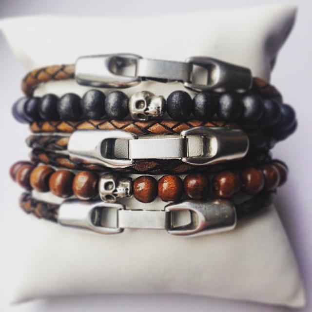 set heren armbanden edelsteen -   nova-style.nl   trendy sieraden en