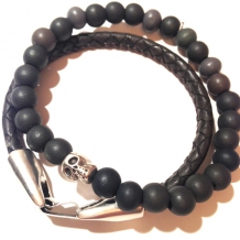 Set heren armbanden antraciet