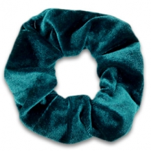 Scrunchie Peacock Green